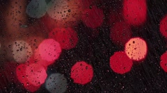 Rainy days,Rain drops on window,rainy weather,1920x1080,traffic lights i Stock Footage