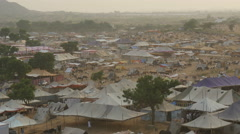 Overview of the grounds of the Pushkar Camel Fair in India Stock Footage