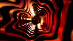 Golden Tunnel Vj Loop Stock Footage