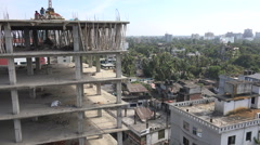 Construction of an apartment building in Sylhet, Bangladesh Stock Footage