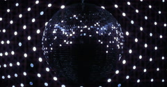 Stock Video Footage of Mirrorball Disco Ball Full Lights Shine