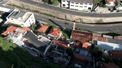 Madeira, Portugal: Aerial view of the city Stock Footage