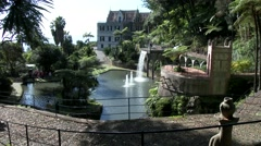MADEIRA, PORTUGAL NOVEMBER 2014: Monte Palace Tropical Chinese Garden Stock Footage