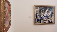 Picasso and Matisse paintings Stock Footage