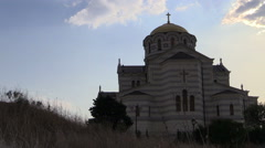 Cathedral of St. Vladimir's in Khersones Stock Footage