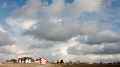 New house on blue sky Stock Footage