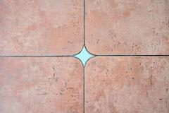 Decorated background tiles terracotta color Stock Photos