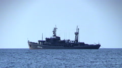 Rescue ship EPRON of Russian Navy is preparing to lift the sunken ship. Stock Footage
