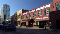 Johnny Cash museum in Nashville. Stock Footage