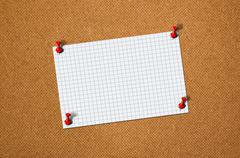 Blank paper memo on wood Stock Photos