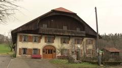 SWITZERLAND Jura - traditionnal swiss farm 2 Stock Footage