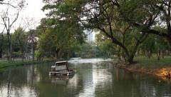 Lakefront at Lumphini Park, Bangkok - stock footage