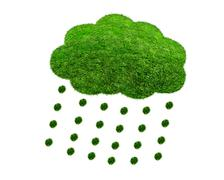 Stock Illustration of The Green Grass cloud with drops