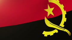 Angola flag waving in the wind. Looping sun rises style.  Animation loop Arkistovideo