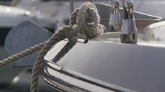 Boats on harbor 4 details Stock Footage
