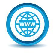Stock Illustration of Blue Www icon