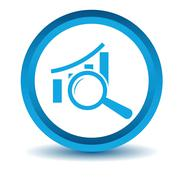 Blue Graph scan icon Stock Illustration