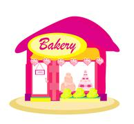 Illustration of bakery shop Piirros