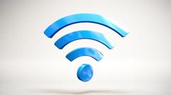 Wi-Fi Wireless Internet Icon Loop Stock Footage