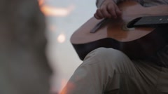 Fire and guitar another Stock Footage