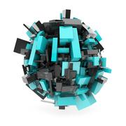 abstract sphere - stock illustration