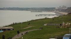 Bournemouth Pier seaside view (British sea side) Stock Footage