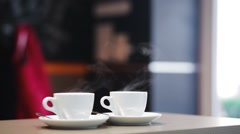 Coffee preparation with espresso machine Stock Footage