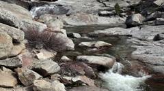 Small Stream Top Of Chilnualna Trail Yosemite California Stock Footage