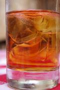 Iced Tea close up. - stock photo