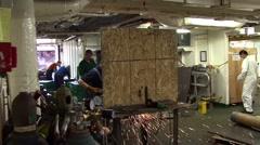 Workmen Welding Metal - stock footage