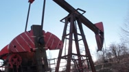 Stock Video Footage of Drilling rig 01