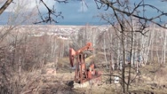 Stock Video Footage of Drilling rig 02