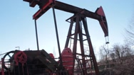 Stock Video Footage of Drilling rig 04
