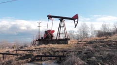 Drilling rig 05 Stock Footage