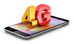 4G LTE wireless technology concept - stock illustration