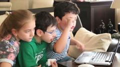 School children using computer Stock Footage