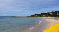 Beach town Aguadilla Puerto Rico Stock Footage