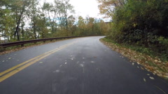 Uphill With Rock on Right on BRP - stock footage