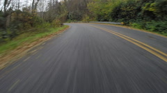 Wet Road Flies Behind on Blue Ridge Parkway - stock footage