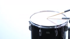 drum Roll (tom tom with sticks, no hands) - close up - stock footage