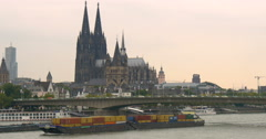 Cologne is Germany's fourth-largest city Stock Footage