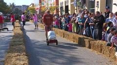 Barrel races at Oktoberfest Stock Footage