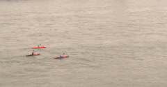 Several people canoeing Stock Footage