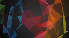 Stock Video Footage of geometric shapes color abstract motion background