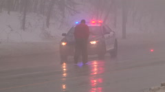 Stock Video Footage of Car accidents and crash scene in freezing rain and ice storm