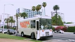 4K, UHD, Ocean Boulevard in Santa Monica, Los Angeles, California Stock Footage