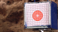 Gun shoot to the shooting target concept Stock Footage