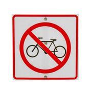 sign no bicycle - stock photo