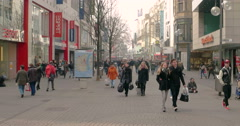 Cologne is Germany's fourth-largest city, Neumarkt Stock Footage