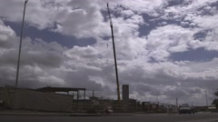 Construction crane 03 Stock Footage
